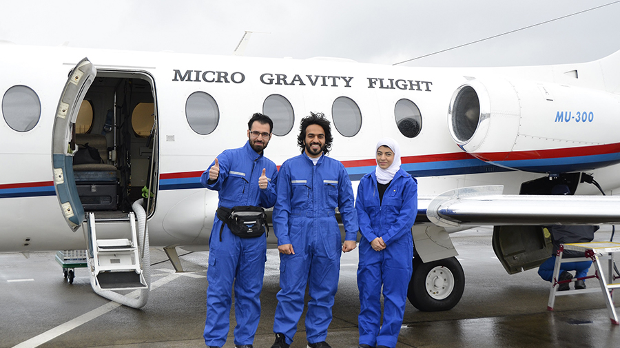 Three Masdar Institute Students Experience Zero Gravity at JAXA-Hosted Training in Japan