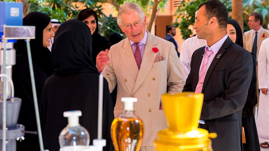 HRH The Prince of Wales Visits Masdar Institute