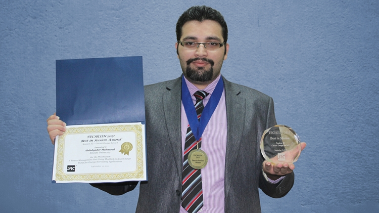 Master's Student Wins Best in Session Award at SRC TECHCON 2017