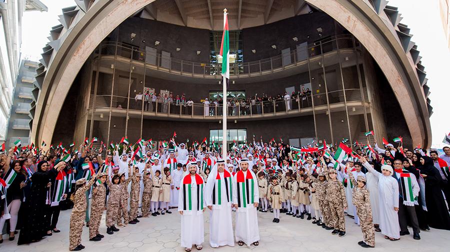 UAE Flag Waves Proudly over Masdar Institute Campus