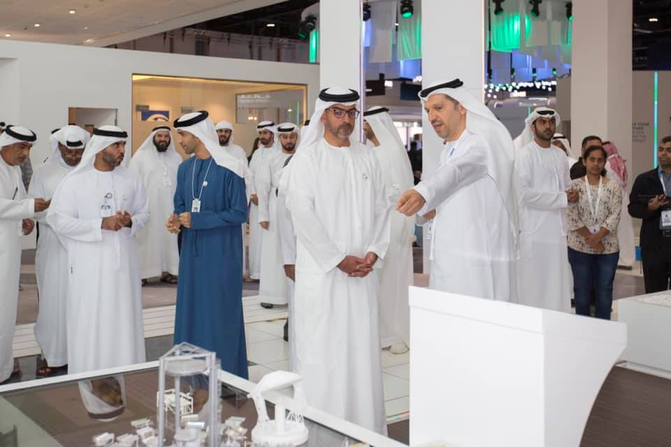 His Highness Sheikh Hamed Visits Khalifa University Stand at WFES January 2019