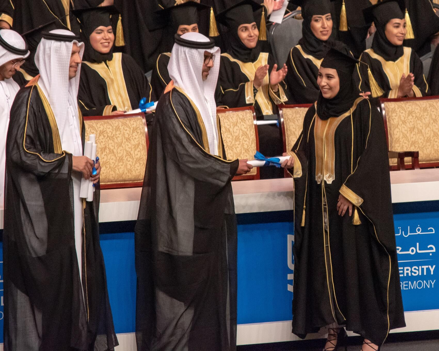 First Student with Applied Math and Statistics 'Major' Graduates from Khalifa University