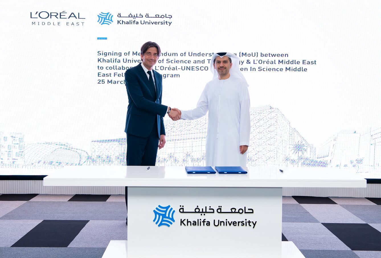 Khalifa University and L'Oréal Middle East Sign MoU to Partner on L'Oréal-UNESCO For Women  In Science Middle East Program