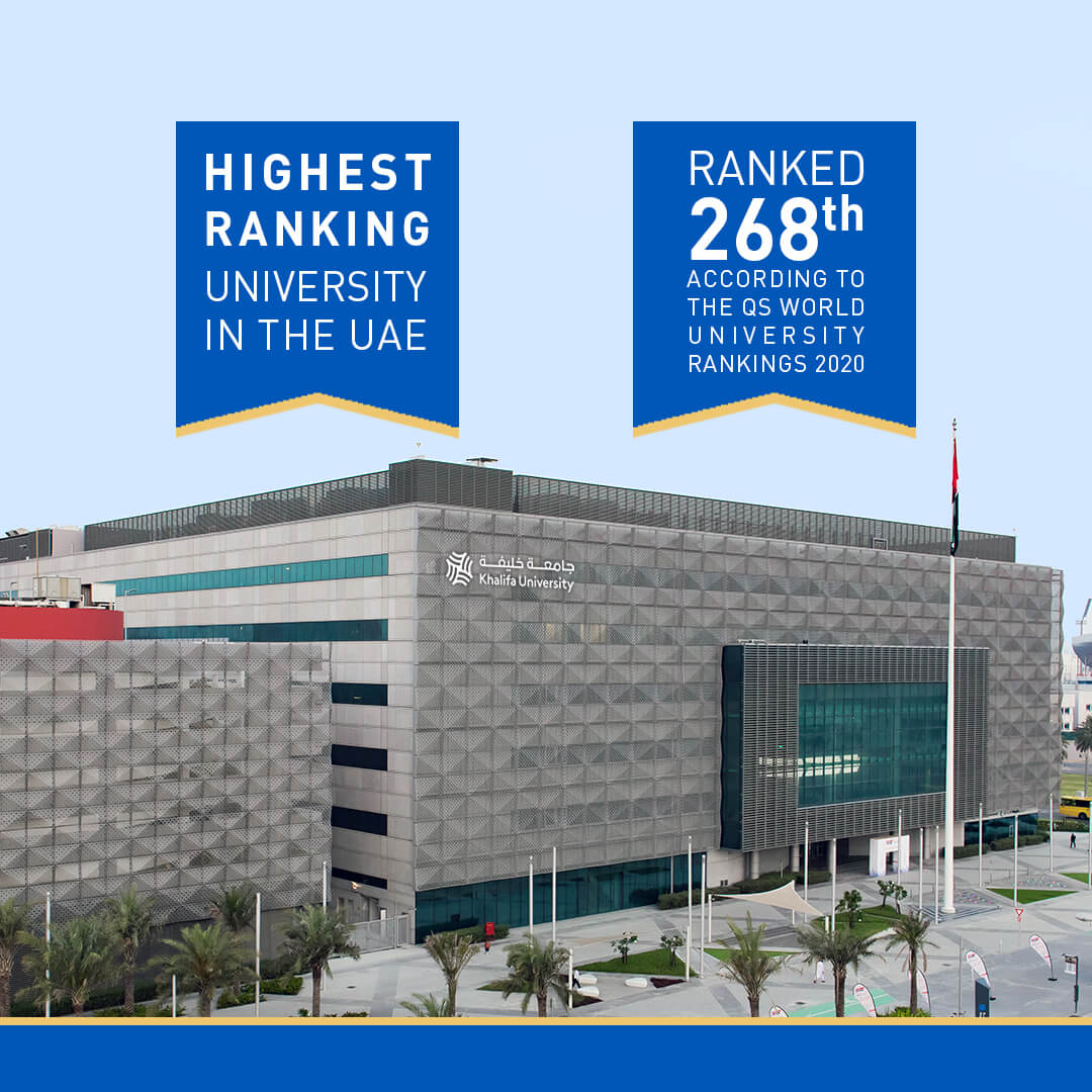 Khalifa University Becomes First-Ever UAE Institution to be Ranked among Top 300 Globally in QS World University 2020 Rankings