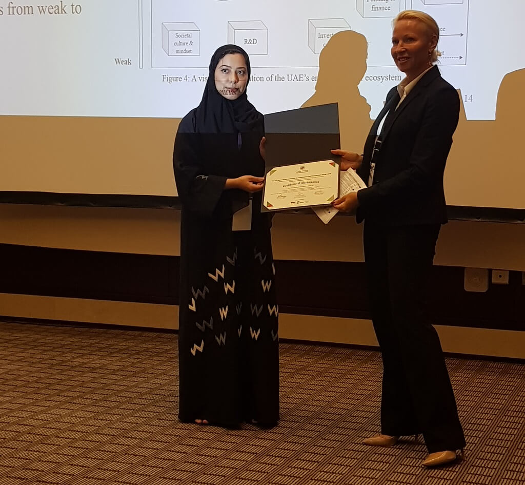 Paper on UAE's Entrepreneurial Ecosystem Wins Award
