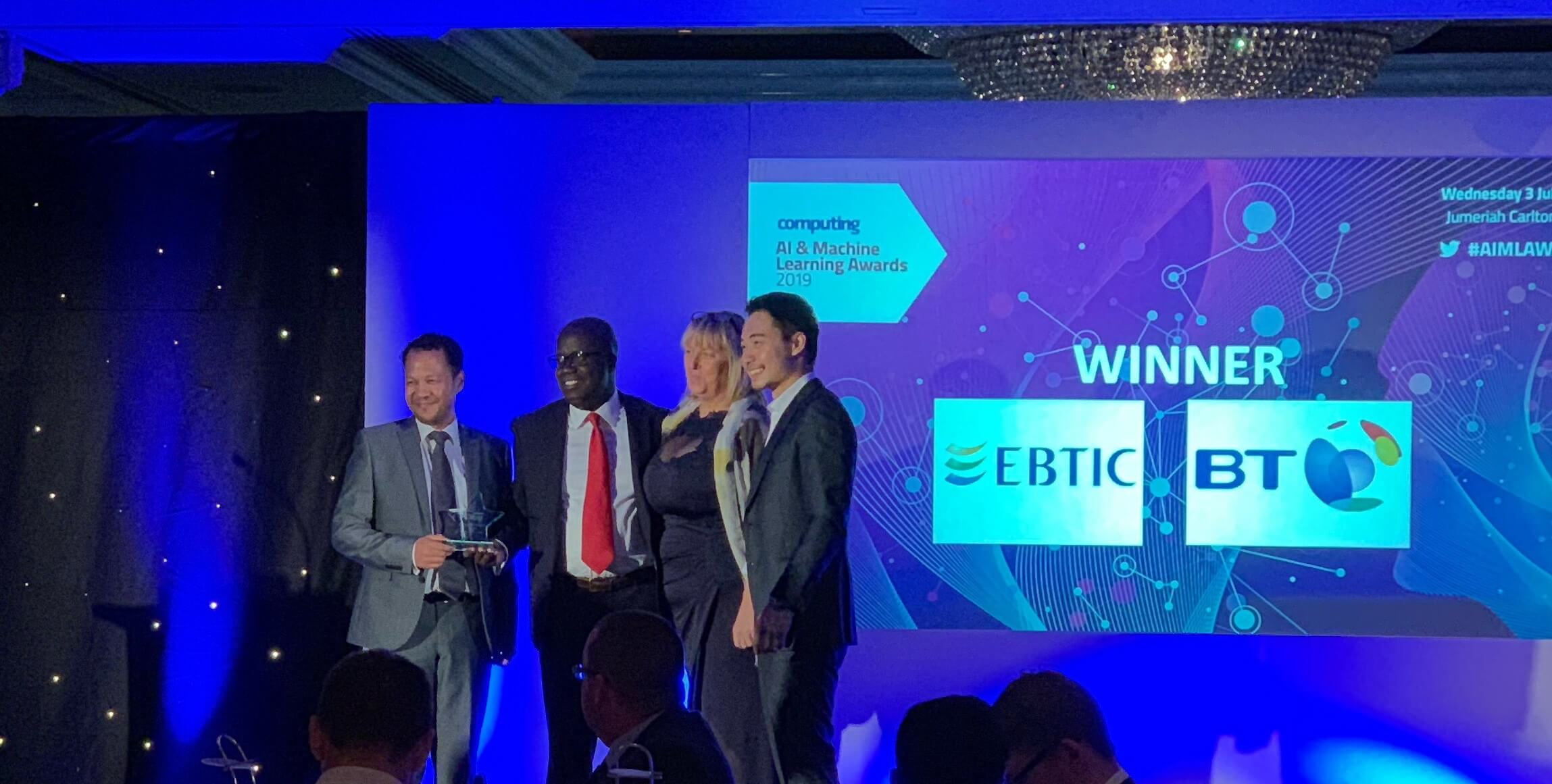EBTIC Wins Two Awards at Computing AI & ML Machine Learning Awards 2019 for Intuitu Project