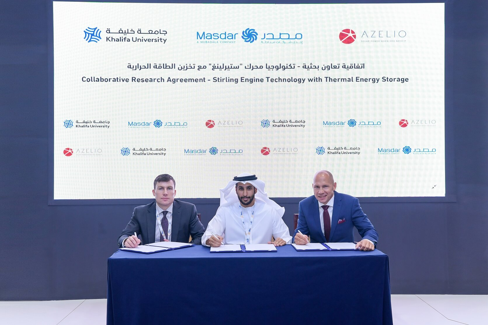 Azelio Partners with Khalifa University and Masdar to Install New Clean-Tech Pilot Project at Masdar City