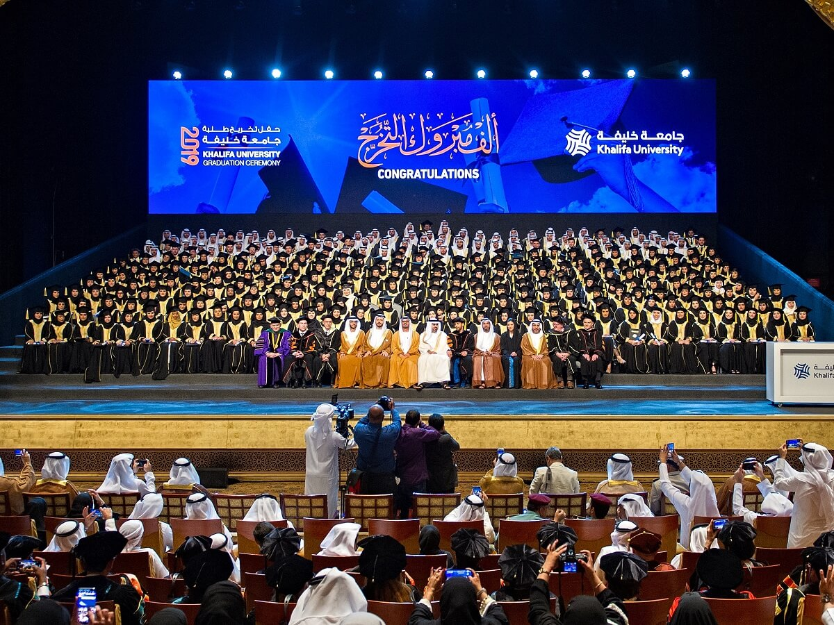 HH Sheikh Theyab Bin Mohamed Bin Zayed Witnesses Khalifa University's Class of 2019 Graduation Ceremony