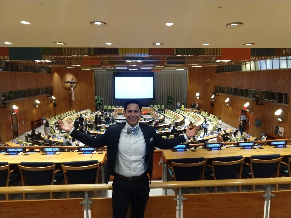 KU Student Presents Pitch at the UN Youth Climate Summit in NYC
