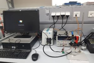 Capacitive Deionization Testing Setup with Compact Line Potentiostat/Galvanostat Instrument