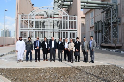 KU faculty and Japanese delegates Transco 400 kV substation, Abu Dhabi Visit