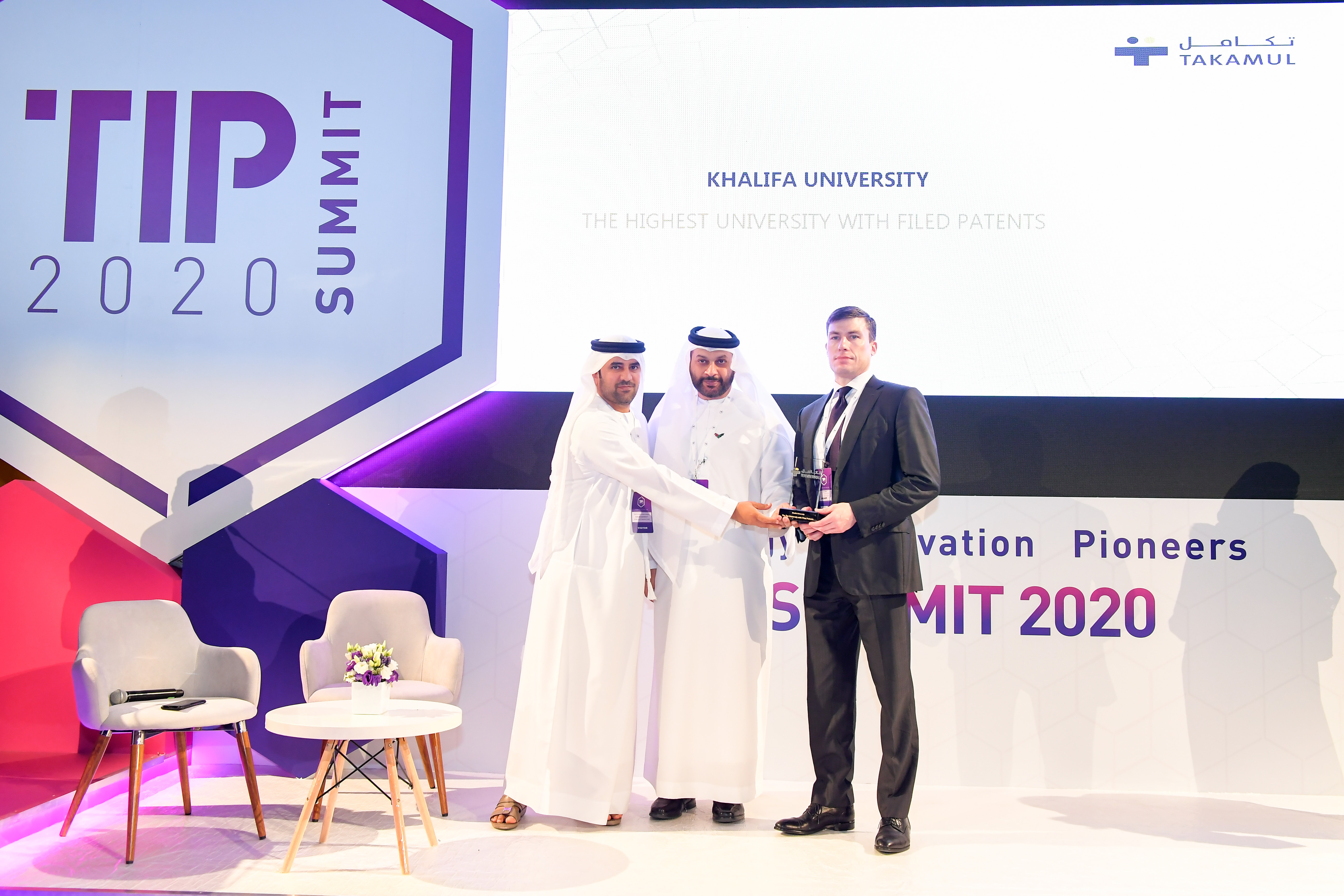 Khalifa University Wins Award for Highest Number of Filed Patents in UAE, as EBTIC Wins 'Most Inventive Innovation Center' Award