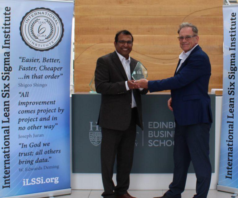 ILSSI honors Professor Jiju Antony with Lifetime Outstanding Contribution to Lean Six Sigma