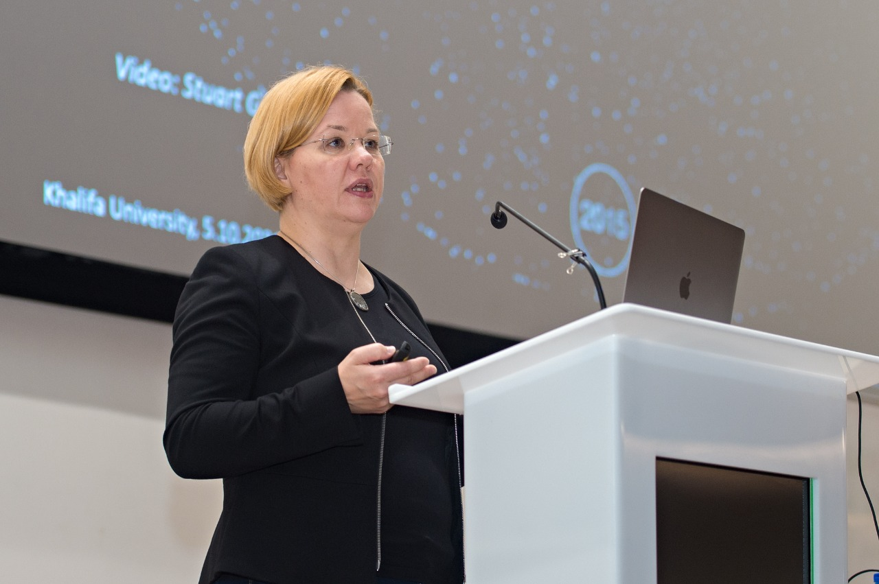 Prof. Minna Palmroth Gives Lecture on Space Sustainability at Main Campus